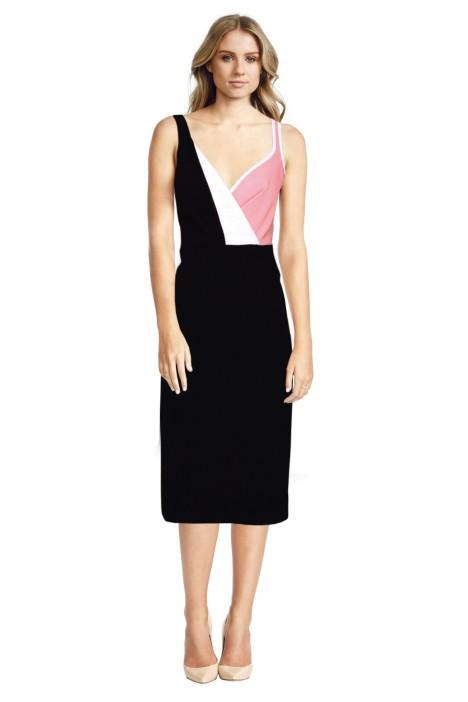 By Johnny - Bonded Fold Back Dress - Black - Front