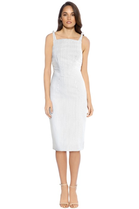 By Johnny - Knot Neck Link Dress - White - Front