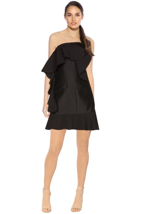 By Johnny - Tess Angel Frill Mini Dress - Black - Front