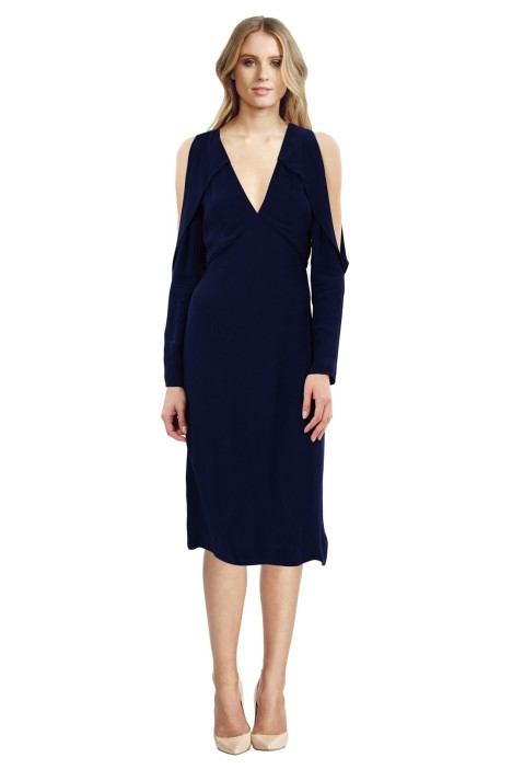 C/MEO Collective - Do It Now Dress - Blue - Front