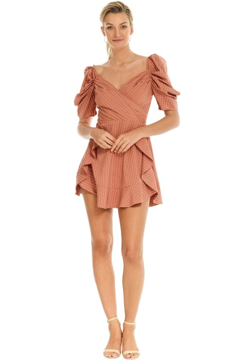 C_MEO Collective - Lift Me Dress - Terracotta Spot - Front