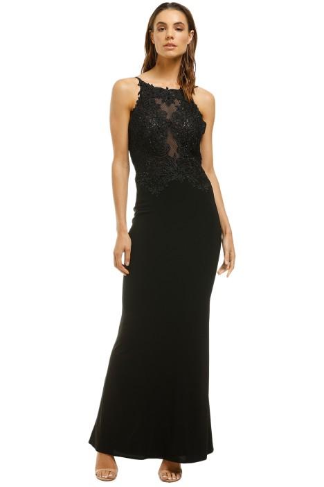 Cachet-Meghan Dress-Black-Black-Front