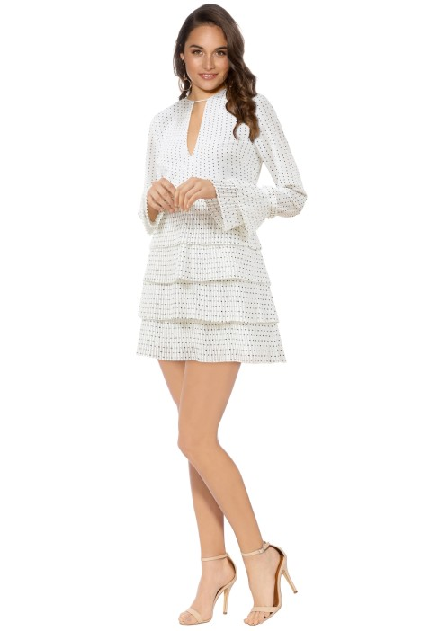 C/MEO Collective - Fundament Dress - Ivory Spot - Front