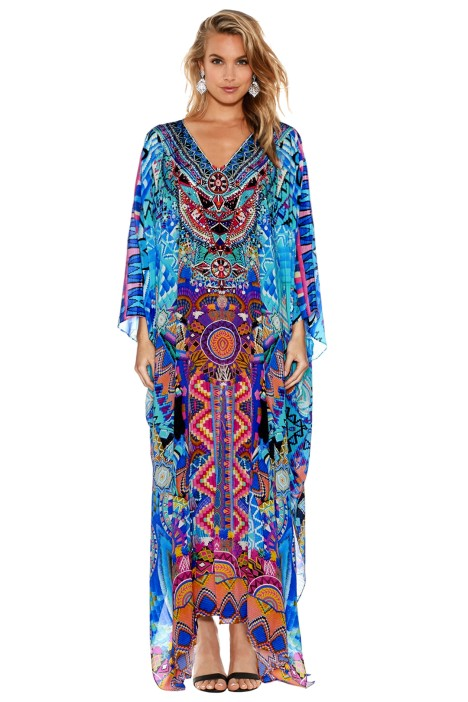 Camilla - Alice in Essaouira Split Kaftan - Front