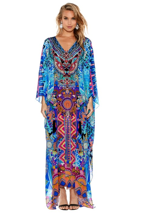 Camilla - Alice in Essaouira Split Kaftan - Prints - Front