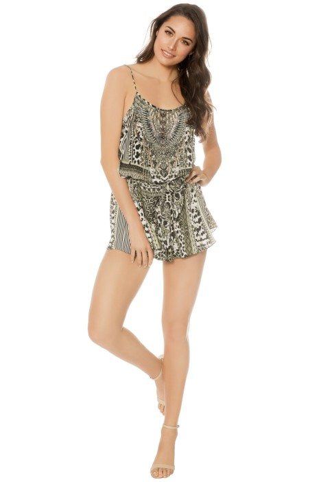 Camilla - Animal Instinct Playsuit - Prints - Front