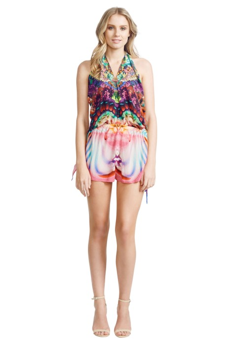 Camilla - Awakened Utopia Playsuit - Front - Prints