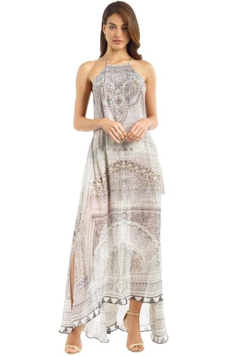 Camilla - Goddess Overlay Dress - Grey - Front