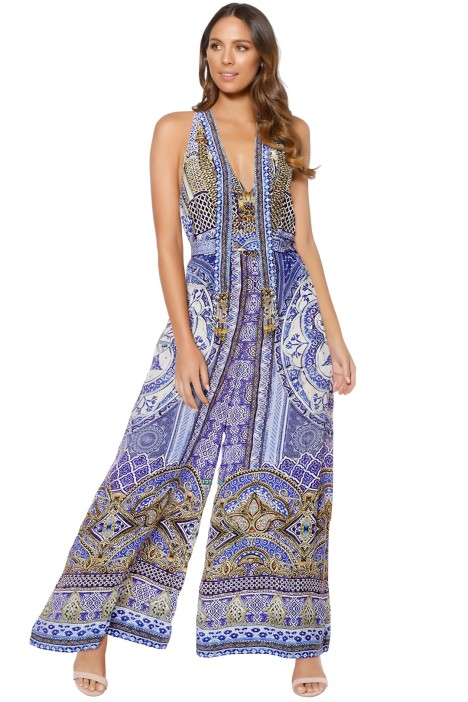 Camilla - It Was All A Dream Keyhole Front Jumpsuit - Prints - Front