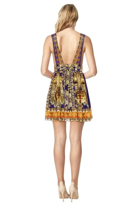 4bdc7295ba Camilla - La Chaquetilla V Neck Short Dress - Prints - Back