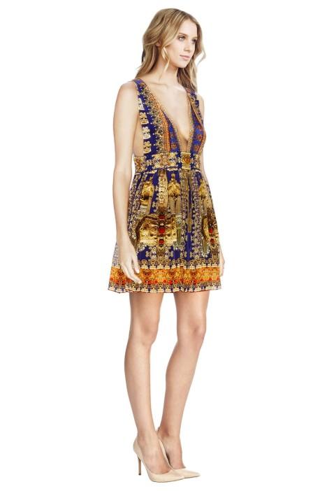 79540089e6 Camilla - La Chaquetilla V Neck Short Dress - Prints - Side