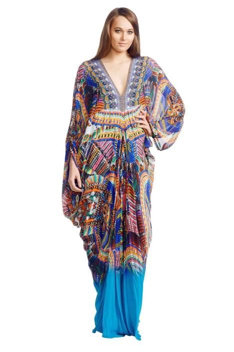 Camilla - Olapa Kaftan - Multicolour Prints - Front