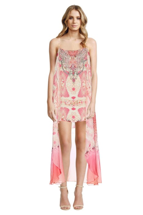 Camilla - Sea Serpent Mini Dress with Long Overlay - Front