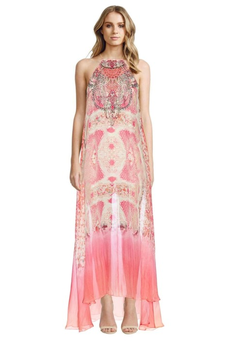 Camilla - Sea Serpent Sheer Overlay Dress -  Prints - Front