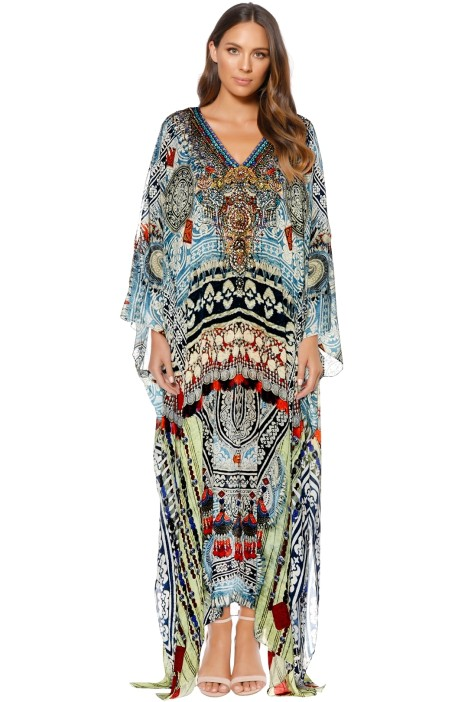 Camilla - Teacher's Pet Split Front Sleeve Kaftan - Prints - Front