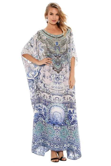 Camilla - Temptress of the Deep Round Neck Kaftan - Front - Prints