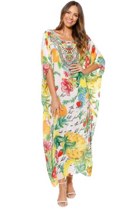 Camilla - There's No Place Like Rio Round Neck Kaftan - Prints - Front