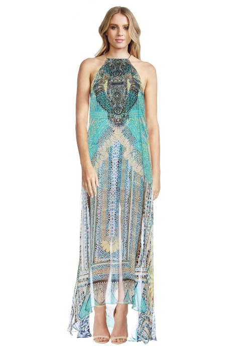 Camilla - Topkapi Thread Sheer Overlay Dress - Prints - Front