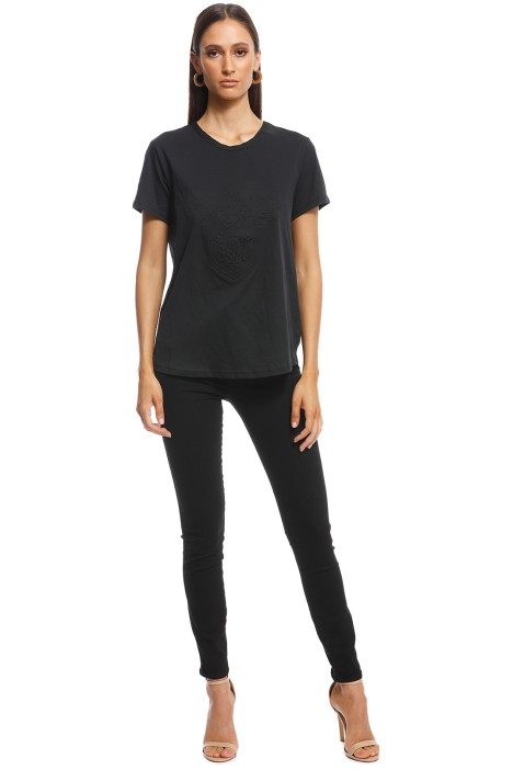 Camilla and Marc - Fay Crest Tee - Black - Front