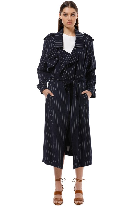 Camilla and Marc - Franca Trench - Navy - Front