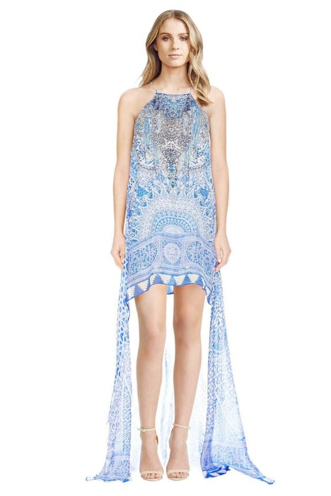 Camilla - Bosphorous Sheer Overlay Dress - Front - Prints