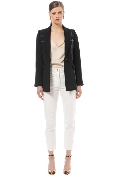 Camilla & Marc -- Carter Embroidered Jacket - Black -  Front
