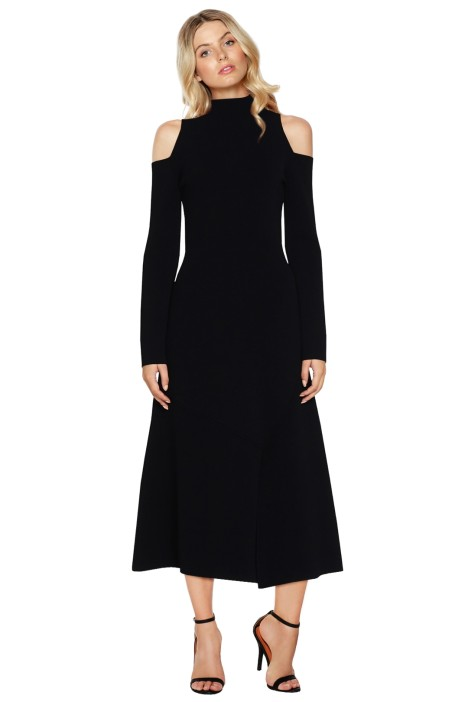 Camilla & Marc - Lindevall Cut Out Shoulder Dress - Black - Front