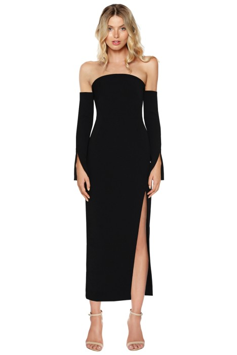 Camilla & Marc - Twiggy Off Shoulder Dress - Black - Front