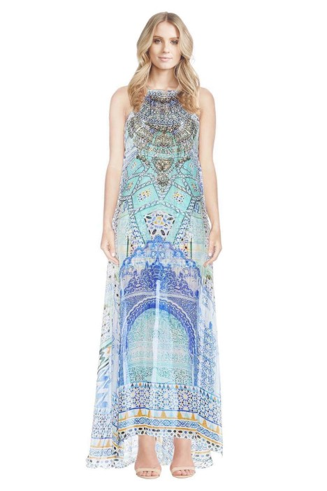 Camilla - Sultans Gate Sheery Overlay Dress - Front - Prints