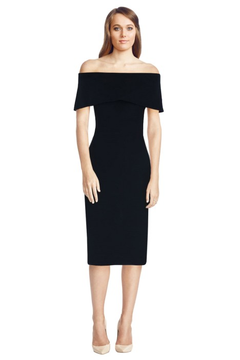 Carla Zampatti - Black Sabrina Sheath Dress - Front