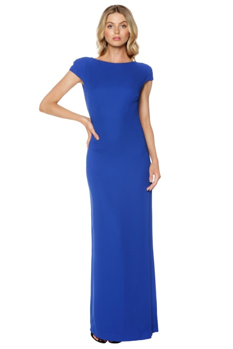 Carla Zampatti - Royal Diamond Cut Out Maxi Dress - Blue - Front