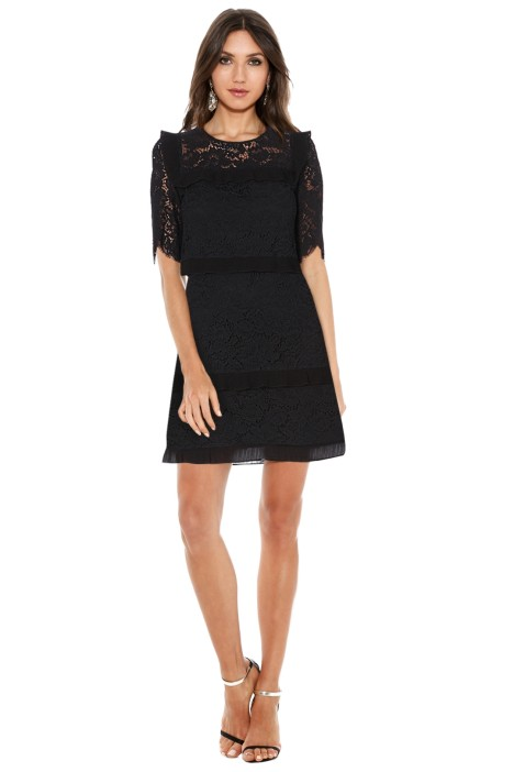 Claudie Peirlot - The Rivale Tiered Lace Dress - Black - Front