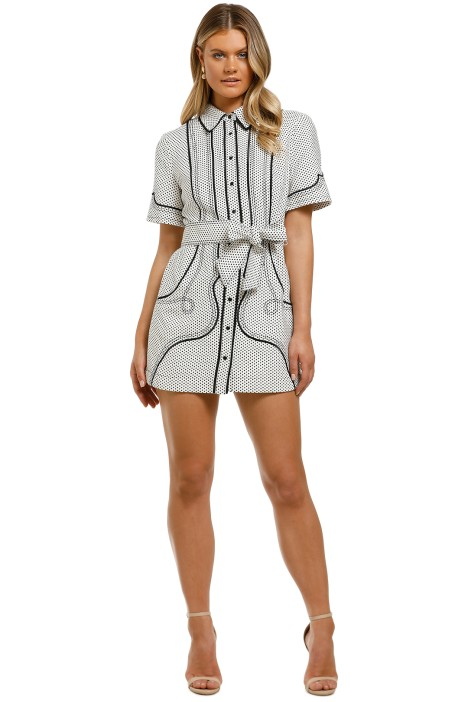 CMEO-Collective-Long-Lasting-Dress-Ivory-Spot-Front