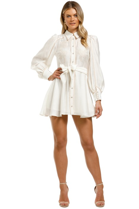 CMEO-Collective-Nearby-Mini-Dress-Ivory-Front