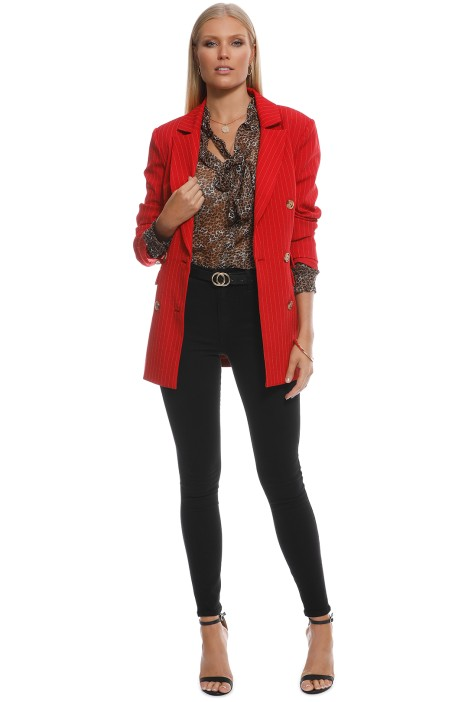 CMEO Collective - Go From Here Blazer - Red - Front