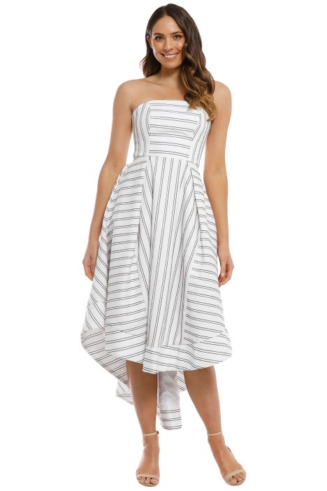 CMEO Collective - Moments Apart Gown - Ivory Stripe - Front
