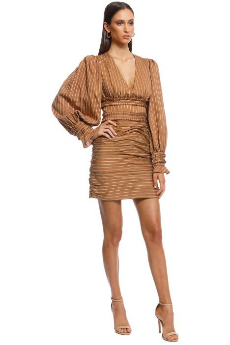 ea6435e931c2a Suffuse Mini Dress - Tan Stripe by C/MEO Collective for Rent ...