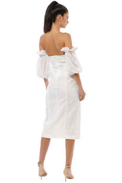 3bde781031d CMEO Collective - Think About Me Midi Dress - Ivory - Front. prev. next