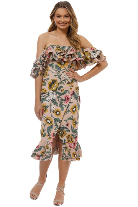 8613c43f3fa9 Cameo - Immerse Midi Dress - Blush Floral - Front