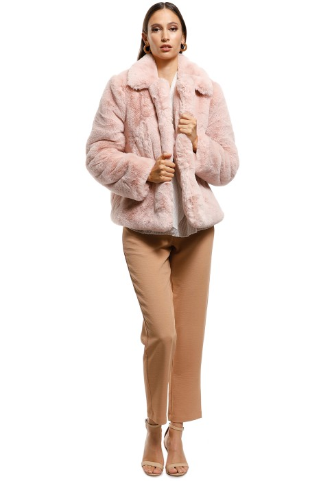Cooper St - Blushing Fur Vest - Pink - Front