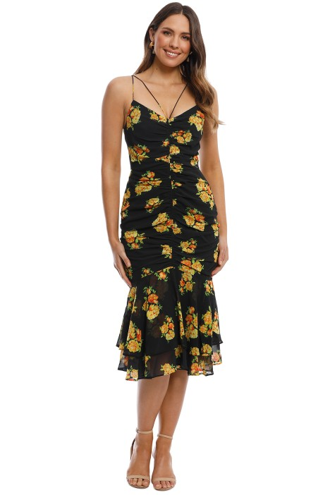 Cooper St - Cinnamon Midi Dress - Print Dark - Front