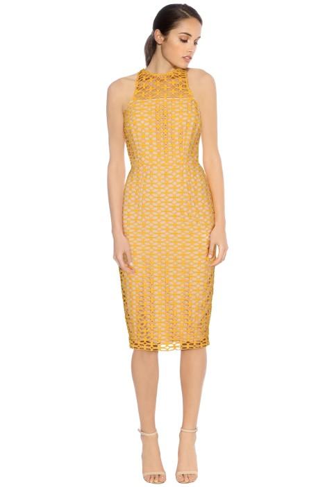Cooper St - Karlie High Neck Lace Dress - Marigold - Front