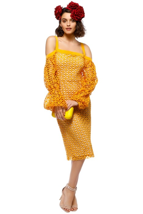 Cooper St - Karlie Lace Bloom Dress - Marigold - Front