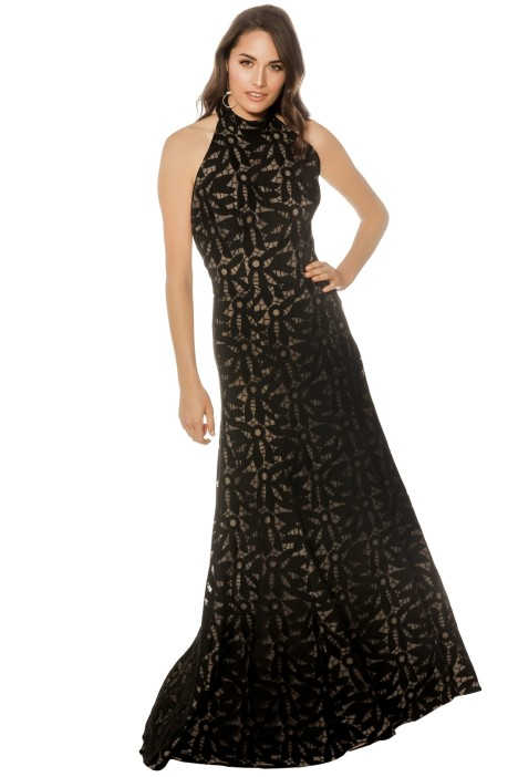 Cooper St - Lady of Venice High Neck Gown - Black - Front