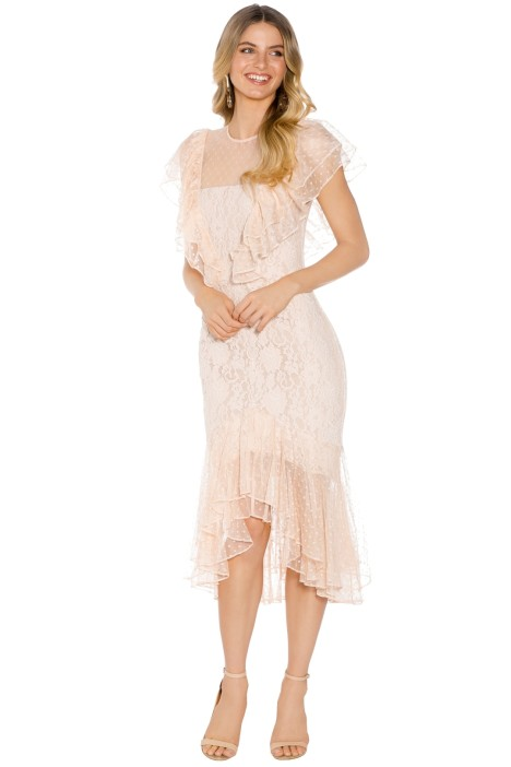Cooper St - Rosie Lace Ruffle Dress - Blush - Front