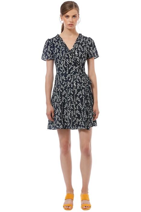 Cooper St - Waterlily Wrap Mini Dress - Print - Front