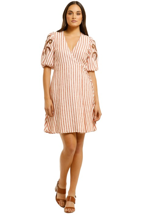 Countr-Road-Wrap-Metallic-Embroidered-Dress-Stripe-Front