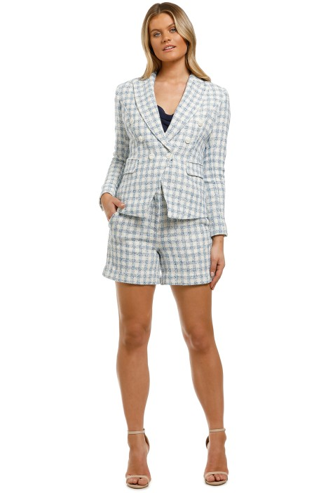 Country-Road-Check-Blazer-and-Short-Set-Sky-Blue-Front