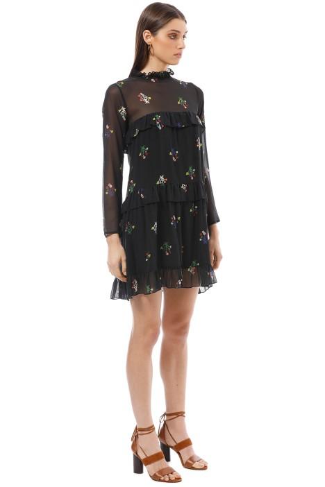 13f032b0377 Cynthia Rowley - High Tide Tiered Ruffle Knee Length Dress - Black - Side