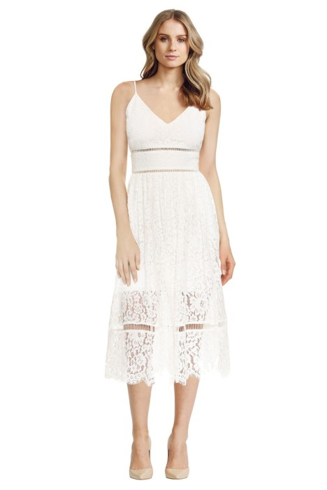 Cynthia Rowley – Lace Midi Dress - White - Front